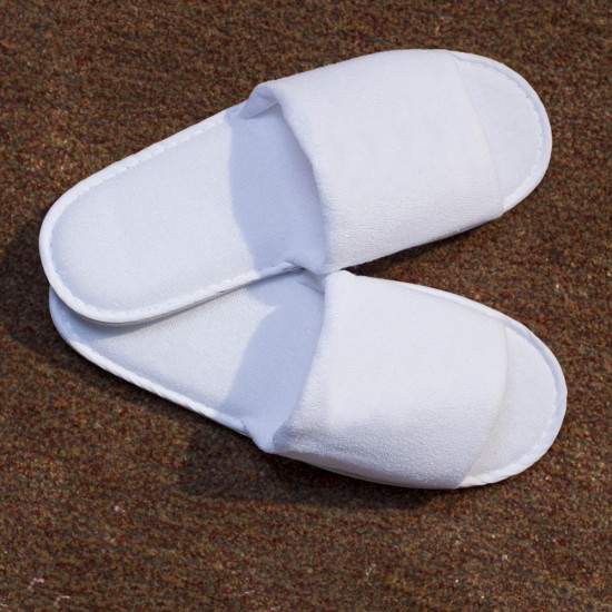BC Softwear Open Toe Towelling Slippers